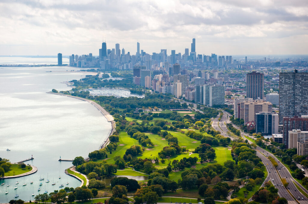 Chicago with golf course